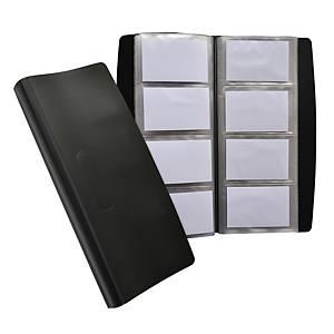 Porte-cartes de visite Elba tout terrain - 27,7 x 13,5 cm - 240 cartes - noir