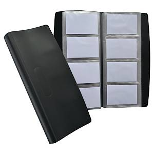Elba carnet pour cartes de visite pour 240 cartes noir