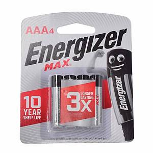 Energizer Max E92 Alkaline Battery - Pack of 4