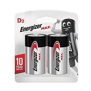 Energizer Max D LR20 Alkaline Battery - Pack of 2