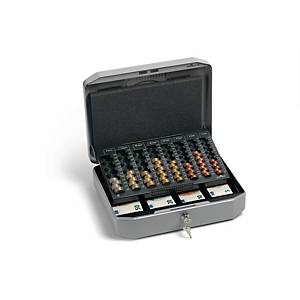 Durable euro cash box with coincounter 270x350x120mm grey