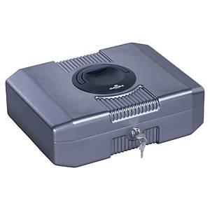 Caja de caudales Durable - acero - gris metálica