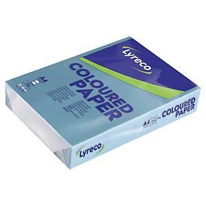 Papier A4 coloré Lyreco Pastel, 80 g, bleu alizé, les 500 feuilles