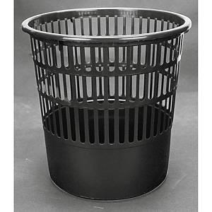 Papelera de rejilla Fabio - plástico - 16 L - negra