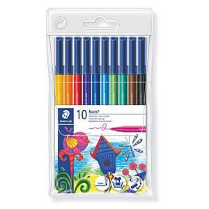 Pack de 10 rotuladores con punta de fibra Staedtler 326 - colores surtidos