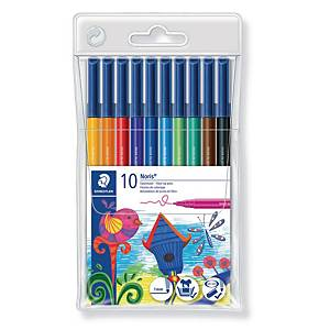 Fiberpenna Staedtler Noris Club, 1 mm, förp. med 10 färger