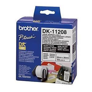 BROTHER ป้ายพิมพ์ฉลาก DK-11208 38x90 มม. 400ดวง