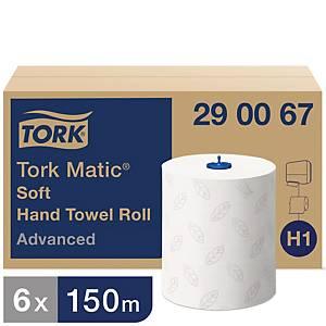Tork Matic® Advanced handdoekjes op rol voor Tork H1, wit, pak van 6 rollen