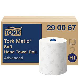Håndklædepapir Tork H1 Soft, 2-lags, 150 m, karton a 6 ruller