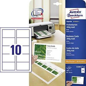 BX100AVERY C32011 I/JET B/CARD200G 85X54