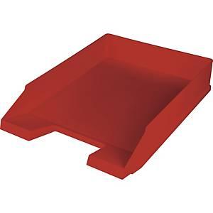 Briefkorb Helit H23616, stapelbar, Maße: 245 x 347 x 67mm, weinrot