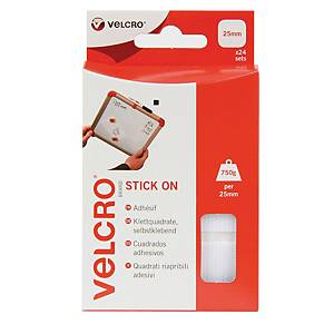 Velcro Brand Hook And Loop Pre-Cut Self-Adhesive Squares 25mm - Pack of 24