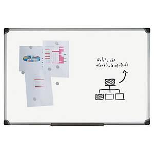 Tableau blanc émaillé magnétique Bi-Office W-Series, 120 x 90 cm