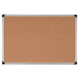 Aluminium Framed Cork Notice Board 600mm X 900mm