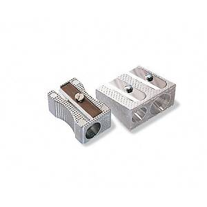 Sacapuntas de aluminio - 2 orificios