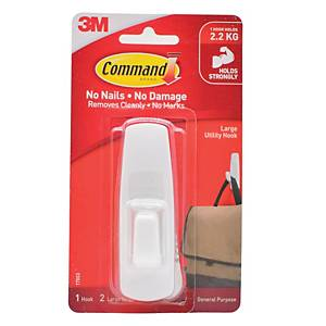 3M Command Adhesive Hook Large - 2.25kg Capacity