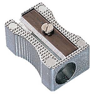 Single hole metal pencil sharpener
