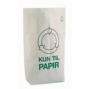 Papirsække  Kun til papir , 110 L, 95 x 70 x 25 cm, pakke a 50 stk.
