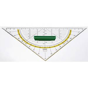Geometritrekant Linex, 21 cm, 45 grader