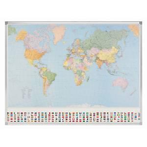 Legamaster Kümmerly & Frey magnetic political world map 142x98 cm
