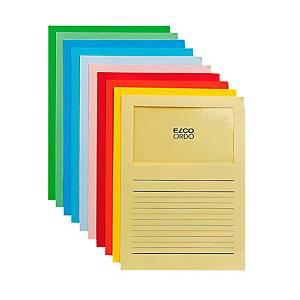 Chemise coin Elco 420515 Ordo Classico à fenêtre, A4, papier, assortiment, 100x