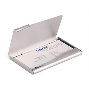 Durable aluminium doosje voor visitekaartjes, per stuk