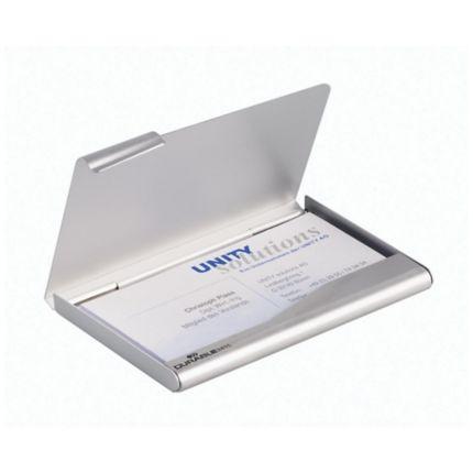 Visitenkartenspender Durable 2415 Für 20 Karten Silber