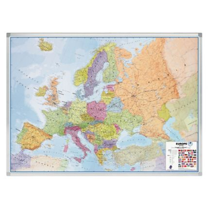 Legamaster magnetic political/road map Europe 141x102 cm