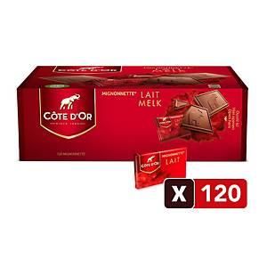 Chocolat au lait Côte d Or Mignonnettes, la boîte de 120 pièces