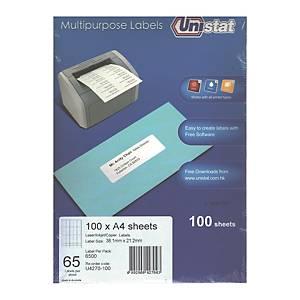 Unistat U4270 Label 38.1 x 21.2mm - Box of 6500 Labels