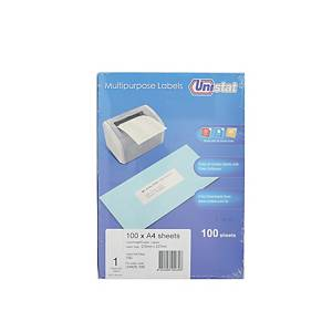 Unistat U4428 Label 210 x 297mm - Box of 100 Labels
