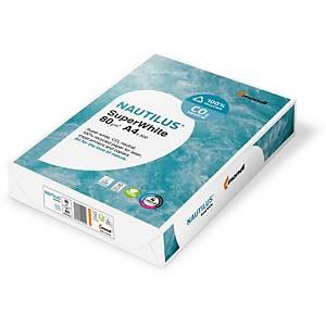 Papier pour photocopieur Nautilus SuperWhite A4, 80 g/m2, blanc,pqt de 500 flles
