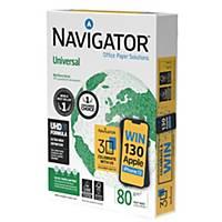 Navigator Universal premium wit A4 papier, 80 g, per doos van 5 x 500 vellen
