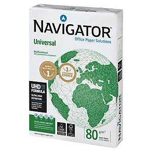 Caixa 5 resmas de 500 folhas de papel Navigator Universal - A4 - 80 g/m²