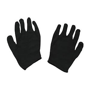 Lady Cotton Gloves Black - Pack of 12 Pairs