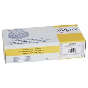 Etiquette matricielle Avery - T3913-500 - 107 x 48,8 mm - blanche - par 3000