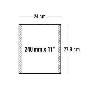 Moduli continui 240 mm x 11   a 2 copie 55 g/mq bianco - conf. 1000