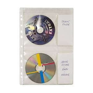 CD-lommer til ringbind, plads til 4 CD er, A4