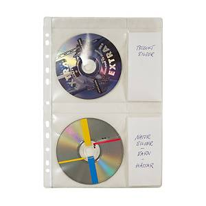 CD-fickor till ringpärm, plats för 4 CD-skivor, A4