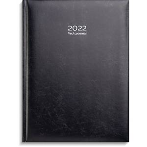 Kalender Burde 91 1110 Veckojournal 2021 konstläder 195 x 260 mm mörkblå