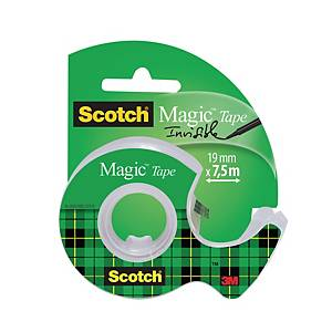 Scotch® Magic™ Tape 810 onzichtbare plakband, B 19 mm x L 7,5 m, met dispenser