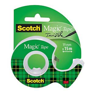 Tejp Scotch Magic 810, 19 mm x 15 m + tejphållare