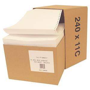 Papier listing - 1 pli - 60 g - 240 mm x 11   - vierge - carton 2500 feuilles