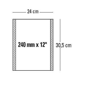 Moduli continui 240 mm x 12   a 1 copia 60 g/mq bianco - conf. 2000