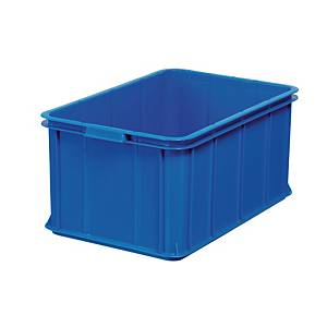 Opbevaringskasse, 55 L, 60 x 40 x 28,5 cm, plast, blå