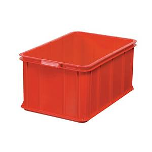 Opbevaringskasse, 55 L, 28,5 x 40 x 60 cm, plast, rød