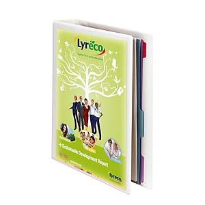 PRES RING BINDER W/POCK A4 16MM WH