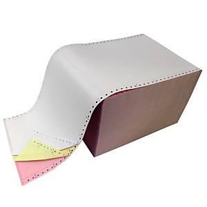Listingpapier wit/geel/roze, 60 g, B 240 x H 305 mm, doos van 750 vellen