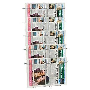 MAGAZINE WALL DISPLAY 5-COMP METAL BLK