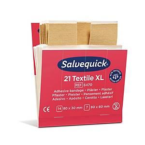 Plaster Salvequick tekstil 6470, XL, æske a 6 sæt